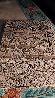 バリ島サヌール タンジュンサリホテル メニューの表紙も素敵